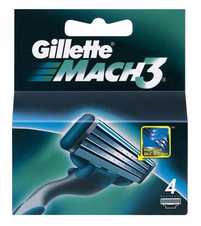 Gillette Mach 3 hlavice na holení 1 ks (v balení 4 hlavice) + výdejní místa po celé ČR