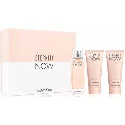 Calvin Klein Eternity Now for Woman dárková sada EdP 100 ml + 100 ml tělové mléko + 100 ml sprchový gel + výdejní místa po celé ČR