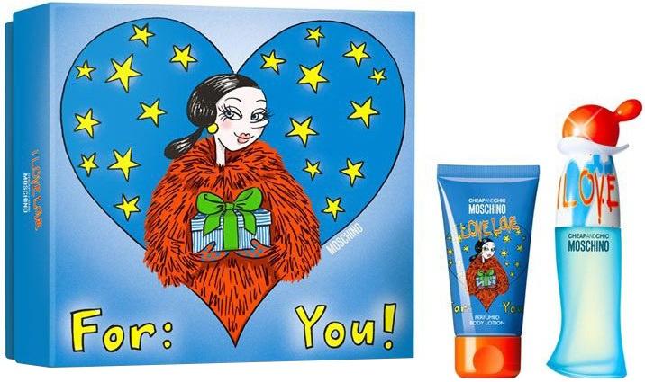 Moschino I Love Love dámská dárková sada toaletní voda 30 ml +50 ml tělové mléko + výdejní místa po celé ČR