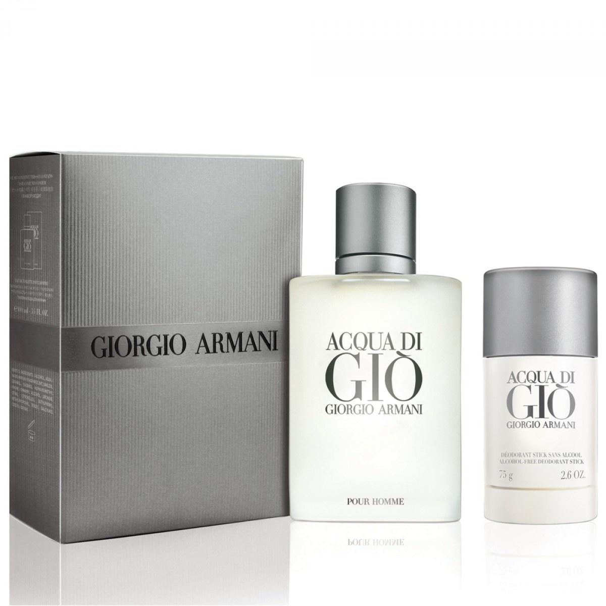 Giorgio Armani Acqua Di Gio pour homme dárková sada Edt 100 ml + tuhý deodorant 75ml + výdejní místa po celé ČR