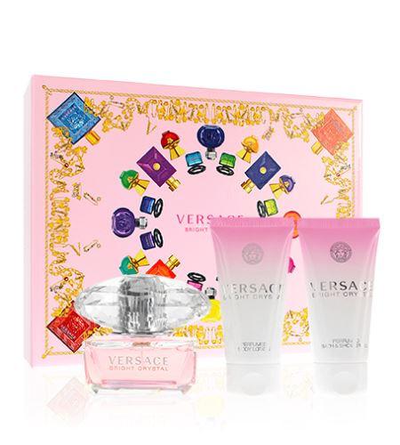 Versace Bright Crystal dárková sada Edt 50 ml + 50 ml tělové mléko + 50 ml sprchový gel + výdejní místa po celé ČR