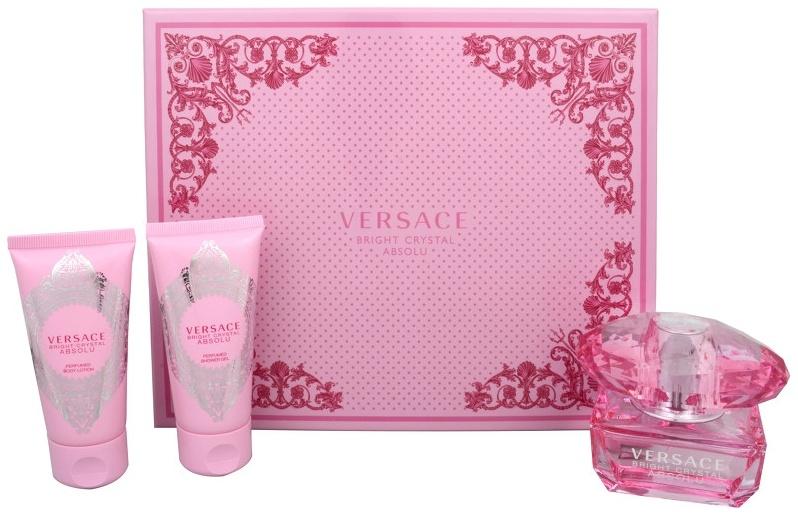 Versace Bright Crystal Absolu dárková sada Edp 50 ml + Tělové mléko 50 ml + Sprchový gel 50 ml + výdejní místa po celé ČR