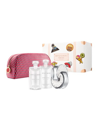 BVLGARI Omnia Crystalline dárková sada Edt 65 ml + 75 ml tělové mléko + 75 g mýdlo + kosmetická taška + výdejní místa po celé ČR